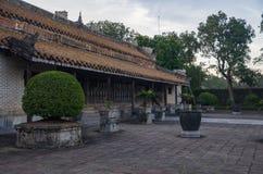 Túmulo e jardins do imperador na matiz, Vietname da Turquia Duc - um local do patrimônio mundial do UNESCO imagens de stock royalty free
