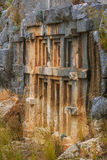 Túmulos antigos do corte da rocha de Lycian Imagem de Stock