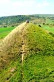 Túmulos celtas no platô de Transylvanian, Romênia, na vila de Sona, condado de Brasov Imagem de Stock Royalty Free