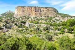 Túmulos da rocha em Pinara, Turquia Fotos de Stock Royalty Free