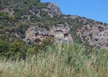 Túmulos das réguas antigas de Lycia Fotos de Stock Royalty Free