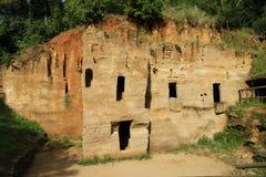 Túmulos de Etruscan Fotos de Stock