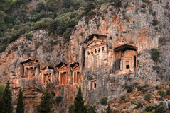 Túmulos de Lycian de Caunos imagem de stock royalty free