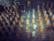 Túmulos de pedra em Londres, Inglaterra Imagens de Stock