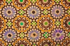 Túmulos de Saadian detalhe marrakesh marrocos fotos de stock royalty free