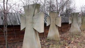 Túmulos do cossaco com epitáfio video estoque