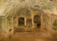 Túmulos dos reis interiores Fotografia de Stock