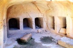 Túmulos dos reis, Paphos, Chipre foto de stock royalty free