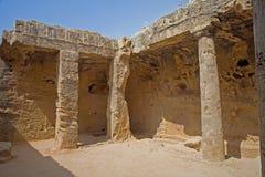 Túmulos dos reis, Paphos, Chipre imagem de stock
