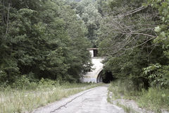 Túnel abandonado de la carretera de peaje Imagenes de archivo