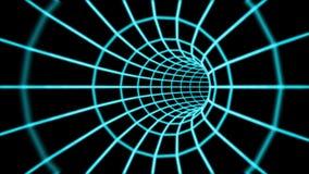 Túnel abstracto 3d de una rejilla Fotos de archivo