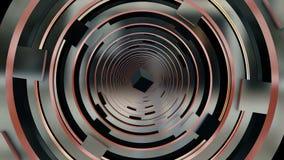 Túnel abstracto en color metálico con el cuadrado libre illustration