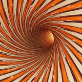 Túnel abstrato, 3D Imagem de Stock