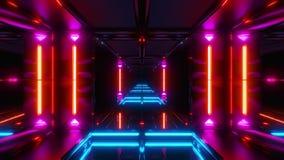 Túnel agradable de colocación inconsútil del espacio del scifi que brilla intensamente stock de ilustración