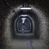 Túnel al centro de la tierra Imágenes de archivo libres de regalías