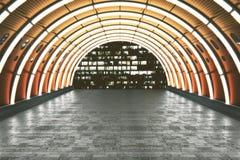 Túnel alaranjado Fotografia de Stock Royalty Free