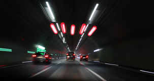 Túnel Alemanha da noite imagens de stock