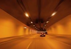 Túnel anaranjado Imagenes de archivo