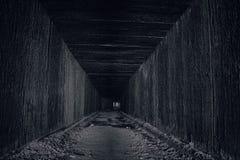 Túnel assombrado em Bucareste subterrânea fotos de stock