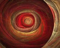 Túnel astral del fuego del fractal stock de ilustración