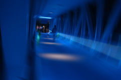 Túnel azul Imagens de Stock