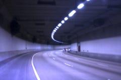 Túnel azul Fotografia de Stock Royalty Free