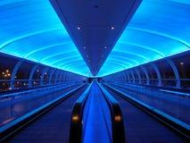 Túnel azul Imágenes de archivo libres de regalías