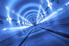 Túnel azul Imagem de Stock Royalty Free