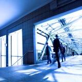 Túnel azul Imagen de archivo libre de regalías