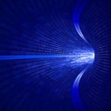 Túnel azul binario Foto de archivo libre de regalías