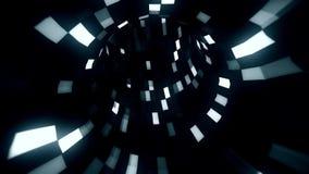 túnel azulado blanco de la inteligencia de Arificial de la ciencia ficción 3D - fondo del movimiento del lazo de VJ almacen de video