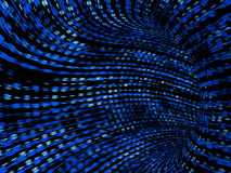 Túnel binário azul ilustração do vetor