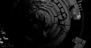 Túnel blanco y negro de la ciencia ficción stock de ilustración