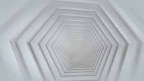 Túnel branco vazio futurista 3D para render ilustração royalty free