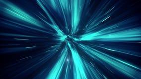 Túnel cósmico Movimiento muy rápido Tipo - 2 ilustración del vector