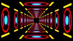 Túnel colorido retro ilustração royalty free