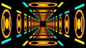 Túnel colorido retro ilustração do vetor