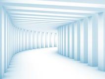 Túnel com colunas Imagens de Stock