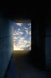 Túnel com luz Fotografia de Stock Royalty Free