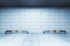 Túnel com parede vazia Imagens de Stock Royalty Free