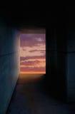 Túnel con la luz Foto de archivo libre de regalías