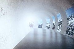 Túnel concreto Imagens de Stock Royalty Free