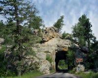 Túnel da angra do ferro, estrada das agulhas, South Dakota fotografia de stock royalty free