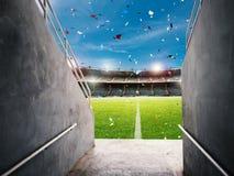 Túnel da arena Fotografia de Stock