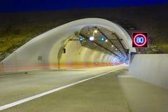 Túnel da estrada Foto de Stock Royalty Free