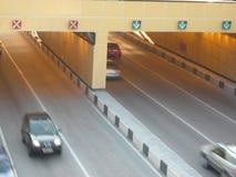 Túnel da estrada sob a ponte Fotografia de Stock Royalty Free