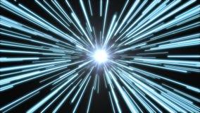 Túnel da luz brilhante, azul Fotografia de Stock