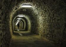 Túnel da mina de sal Fotografia de Stock Royalty Free