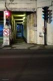 Túnel da morte, Montreal, Canadá (3) imagem de stock