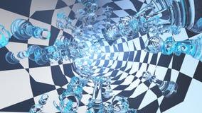 Túnel da xadrez ilustração stock